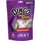 Dingo Meat Jerky Bone 4 In. Rawhide Chew, (6-Pack) Image 1