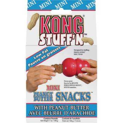 Kong Stuff'N Small Dog Peanut Butter Flavor Crunchy Dog Treat, 7 Oz.