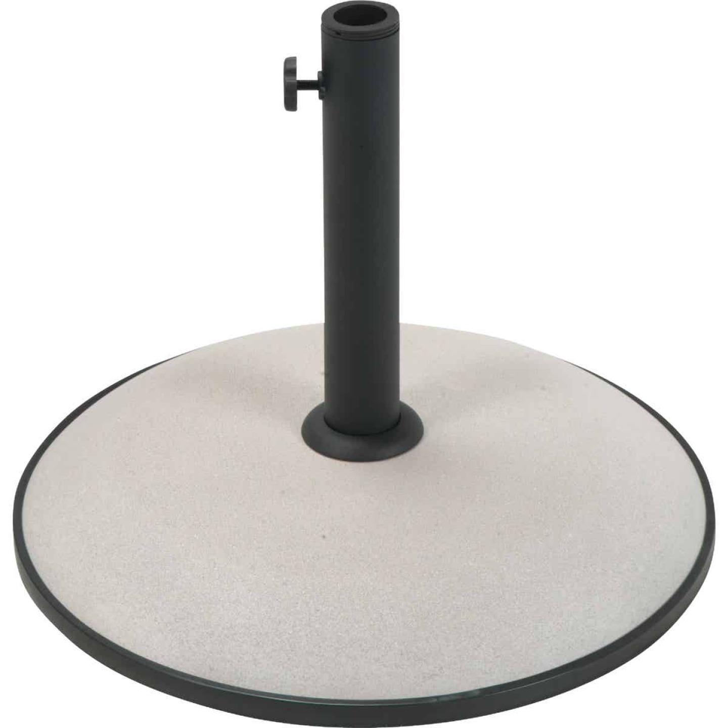 Outdoor Expressions 17 In. Round Tan Concrete Umbrella Base Image 1
