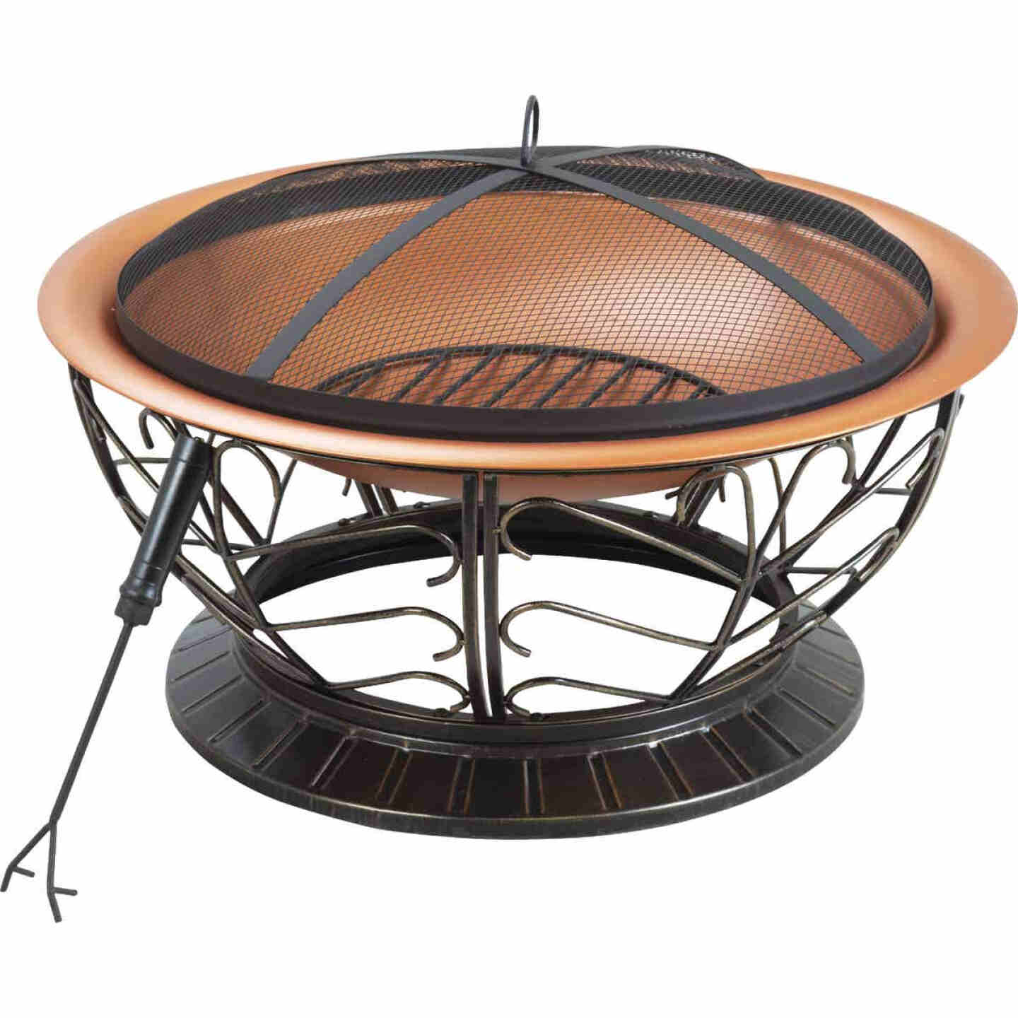 Outdoor Expressions 30 In. Coppertone Round Steel Fire Pit Image 1