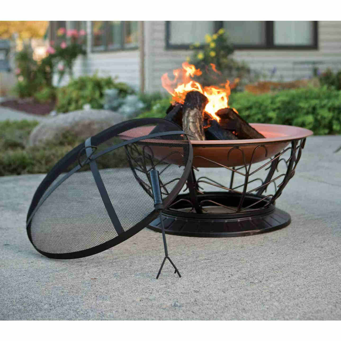 Outdoor Expressions 30 In. Coppertone Round Steel Fire Pit Image 2