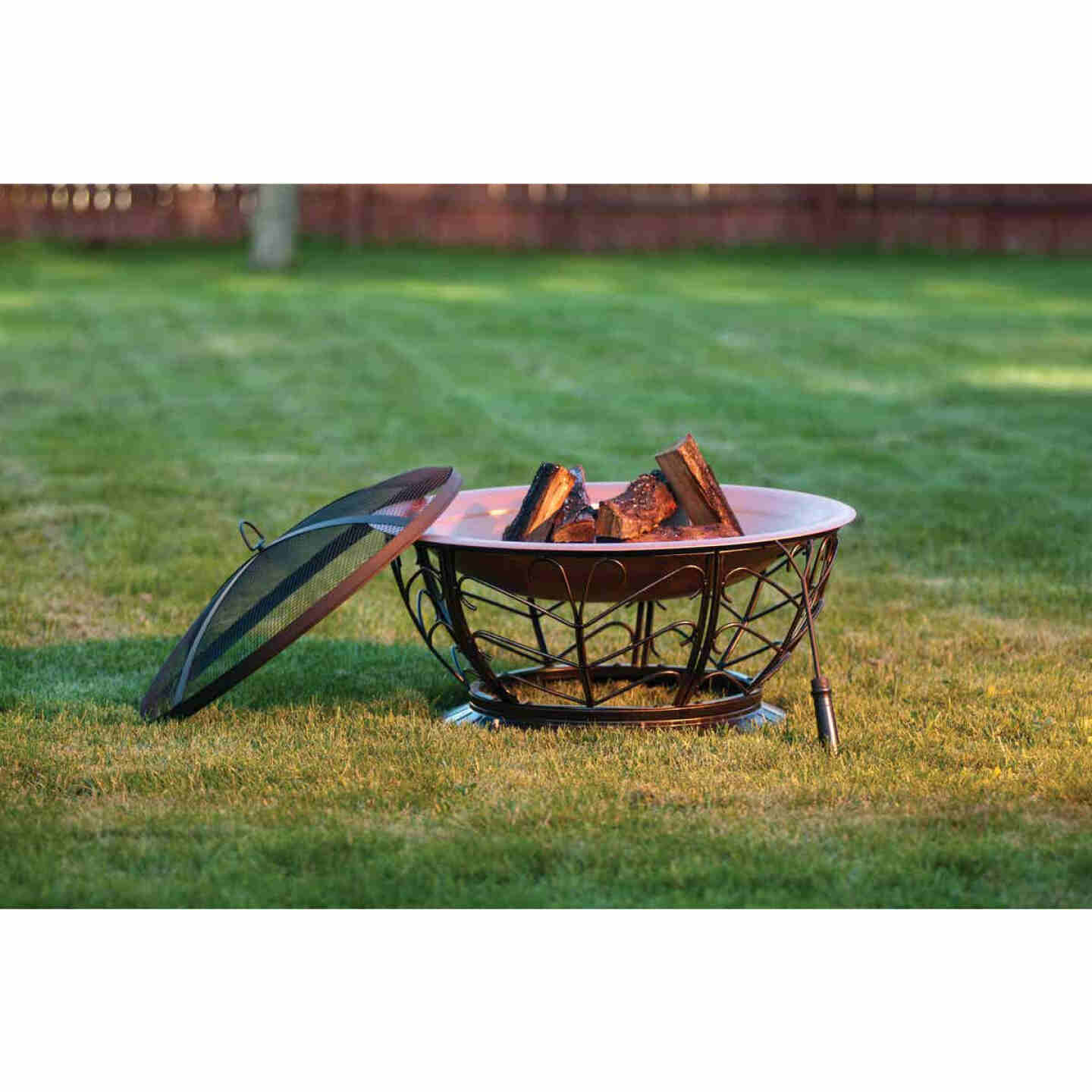 Outdoor Expressions 30 In. Coppertone Round Steel Fire Pit Image 3