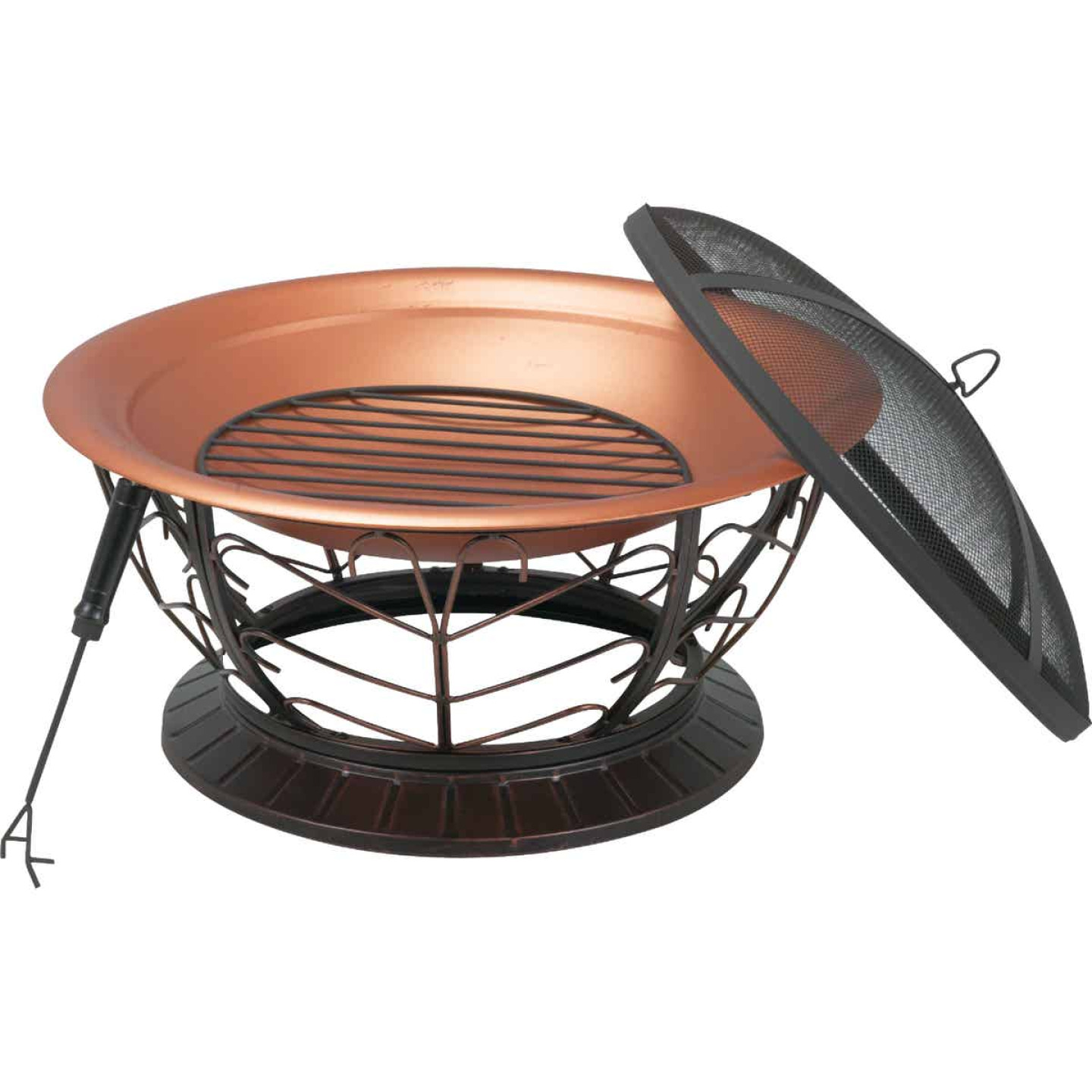 Outdoor Expressions 30 In. Coppertone Round Steel Fire Pit Image 7