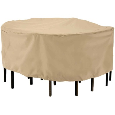 Classic Accessories 23 In. H. x 69 In. D. Tan Polyester/PVC Table Cover