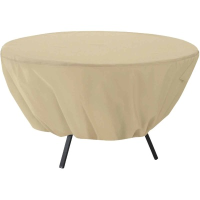 Classic Accessories 23 In. H. x 50 In. D. Tan Polyester/PVC Table Cover