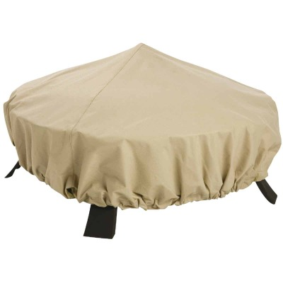 Classic Accessories 44 In. Dia. Tan Polyester / PVC Fire Pit Cover