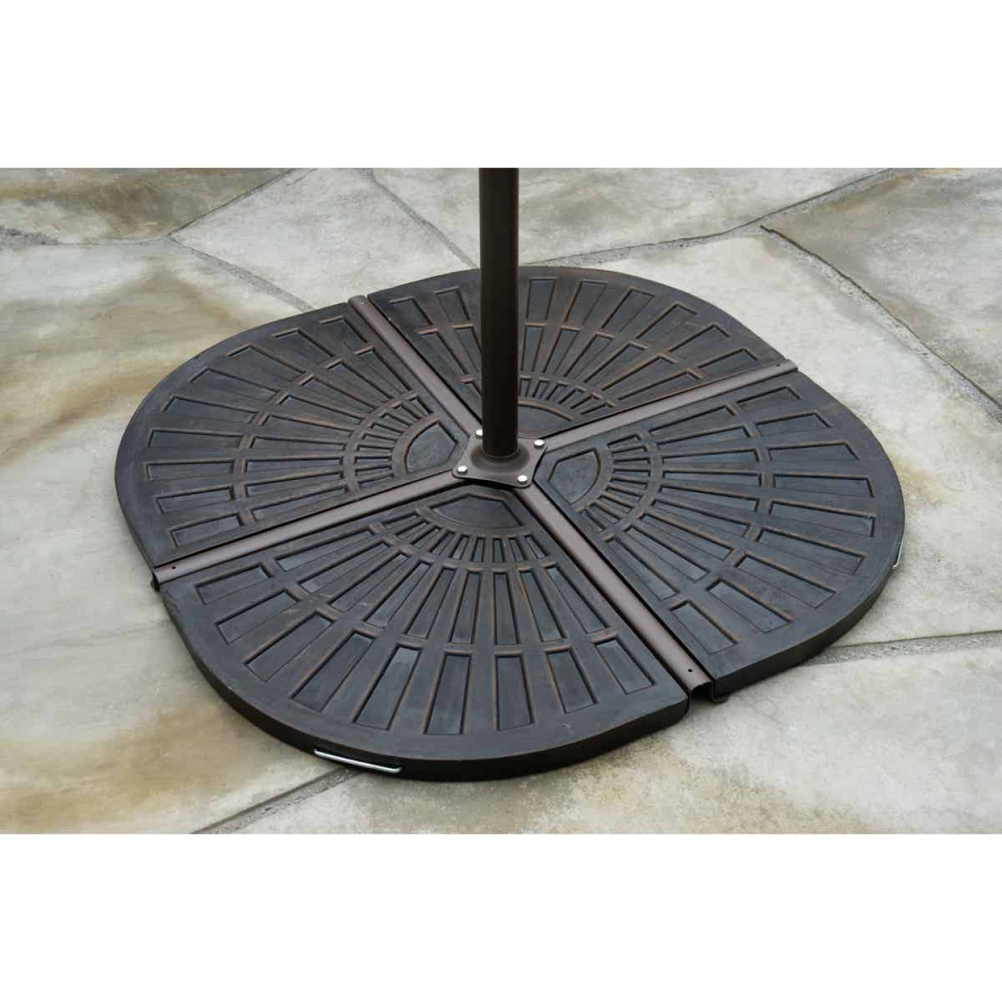 Outdoor Expressions 19 In. Offset Bronze Resin Umbrella Base Image 3