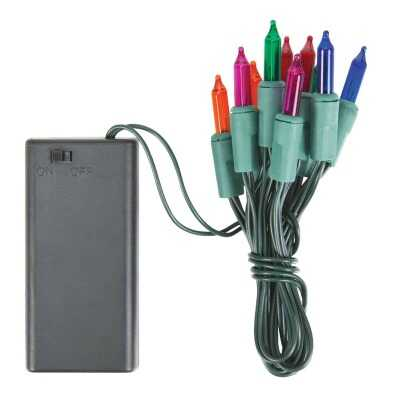J Hofert Multi 10-Bulb Mini Incandescent Battery Operated Light Set
