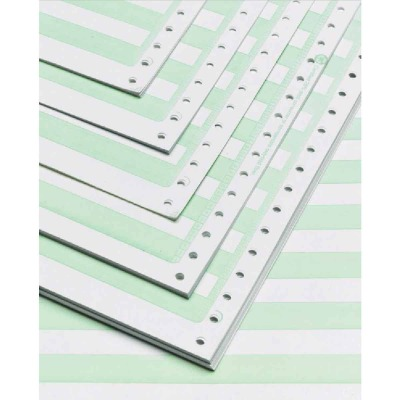 Staples 14-7/8 In. x 11 In. 18 Lb. Green Bar Computer Printer Paper, 2800 Sheets