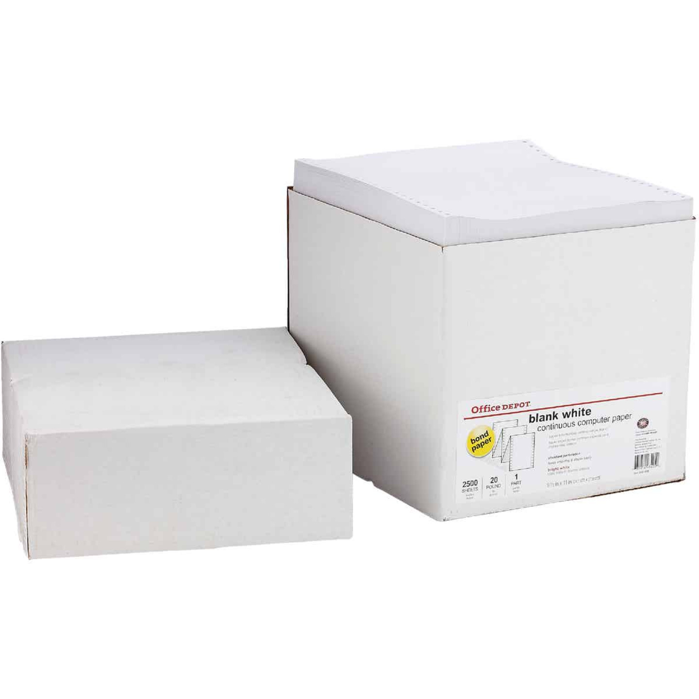 Staples 8-1/2 In. x 11 In. 20 Lb. White Blank Computer Printer Paper, 2500 Sheets Image 3